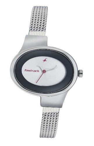 Fastrack Economy Analog Silver Dial Women's Watch - NE6015SM01 image