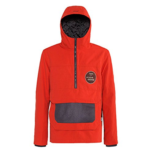 Jeep Man Anorak Gepolsterte Jacke W/Kapuze J4 W, rot (rot Clay/Dark Grey), XL