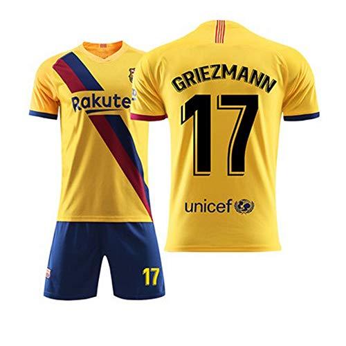 MS-QY Trikot Fußball Fútbol Club Barcelona 17# Griezmann Fußball Fans Shirt Alle Größen Für Erwachsene Und Kinder Jungen Fußball Bekleidung Jersey,Adult~XL(180~190CM)