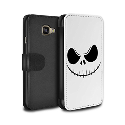 Stuff4® PU-Leder Hülle/Case/Tasche/Cover für Samsung Galaxy A5 (2016) / Jack Skellington Inspiriert Kunst Muster/Grusel Filmkunst Kollektion (Mr Halloween De Jack)