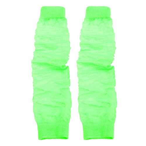 Damen Beinwärmer / Stulpen in Neon-Farben, 1 Paar (Einheitsgröße) (Neon-Grün) (Stulpen Bunte)