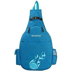 Raquetas de tenis bolsa deporte mochila, azul