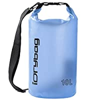 IDRYBAG Clear Waterproof Dry Bag Floating 2L/5L/10L, Lightweight Dry Bag Water Sports, Roll Top Keeps Gear Dry for Kayaking, Fishing, Boating, Canoeing, Hiking, Camping, Rafting, Beach 5L Blue
