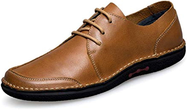 Qiusa Suola in Gomma da Uomo Stile Oxford Oxford Oxford in Similpelle Marronee Fashion scarpe da ginnastica UK 7.5 (Coloreee   -, Dimensione   -) | Re della quantità  | Sig/Sig Ra Scarpa  9f4a99