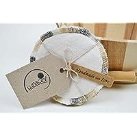 Peelingpad, Kosmetikpads aus Bio-Baumwolle, 5 Stück, Abschminkpad, Reinigungspad, braun, creme beige, Wellness, Bad, Geschenkset für die Frau