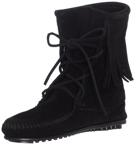 Minnetonka - Tramper Ankle Hi Boot, Stivale da donna Nero (Black 9)