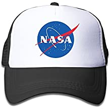 hittings Youth Children Kids Fashion NASA Logo gorra de béisbol tiene Snapback Black Black
