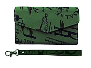 ATV Printed Pouch Case Flip Cover With Ditachable Strap For Lenovo A850+