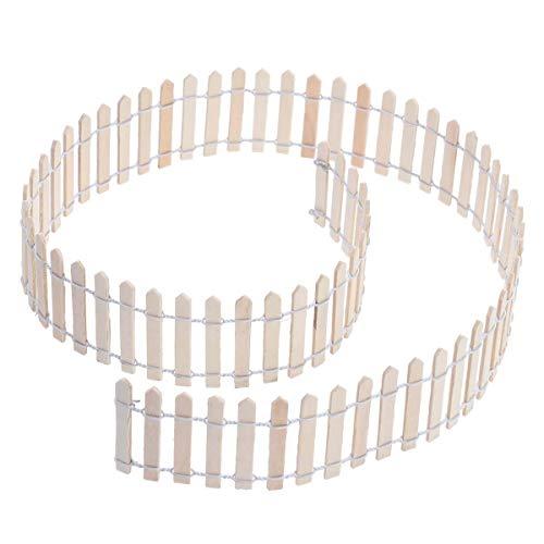 takestop® Mini-Zaun, dekorativ, aus Holz, 90 x 5 cm, Bordüre für Garten und Garten