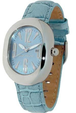 Haurex 88110T Montre Bracelet en cuir d'agneau couleur turquoise