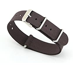 Owfeel Brown Nylon Watch Band Strap Replacement Watch Belt 20mm