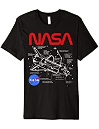NASA Space Shuttle Schematic Layout Graphic T-Shirt