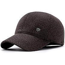 Vinteen Sombrero Hombres Sombrero de Invierno Gorra de béisbol Mantén la  protección cálida Oído Padre Mediana 381640b321e