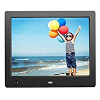 8 Inch LCD HD Picture Digital Photo Frame with Motion Sensor Built-in 4GB Storage High Resolution Picture Calendar Alarm Music Video Advertising Player