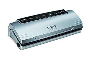 CASO VC10 Vakuumierer - Vakuumiergerät, Lebensmittel bleiben bis zu 8x länger frisch - natürliche Aufbewahrung ohne Konservierungsstoffe, 30cm lange Schweißnaht, einfach zu bedienen, inkl. 10 gratis Profi-Folienbeutel