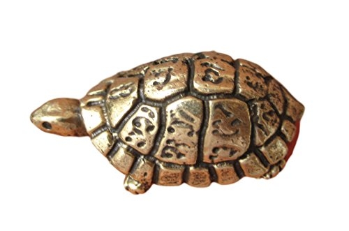 Himalayan Treasures Messing Schildkröte Amulett Glücksbringer Thailand Buddhistische Segen