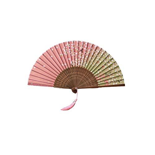 Demarkt Handfächer Fächer Folding Fans Hand Fans Bambus Fans mit Quaste Faltfächer Klappfächer Taschenfächer für Hochzeit Party Accessoires Damen Karneval Kostüm Zubehör (Stil 1)