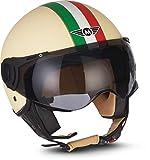 MOTO Helmets H44 'Venice Creme' · Jet-Helm · Motorrad-Helm Roller-Helm Scooter-Helm Bobber...