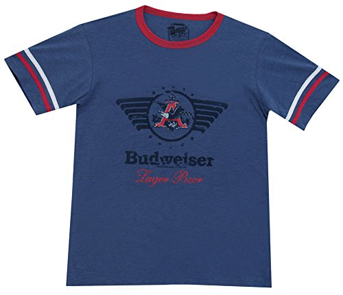 busch-anheuser-eagle-di-birra-logo-budweiser-beer-vintage-maglietta-da-adulto-heather-navy-blue-medi