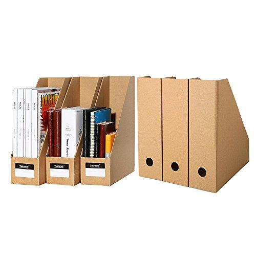 TIANSE 6-Pack Datei Magazin Organizer Bankers Box für Desktop-Speicher in Office Home