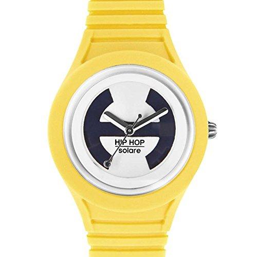 Hip Hop Watches - Damenuhr Aspen Gold HWU0534 - Solar Kollektion - Silikon-Armband - Wasserdicht bis 5 ATM - 34mm Gehäuse - Gelb - Quarzwerk