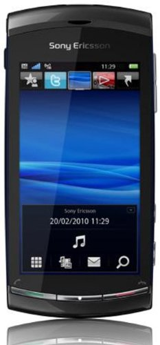 Sony Ericsson Vivaz Smartphone (UMTS, WLAN, 8.1 MP, HD-Video 720p) Cosmic Black Symbian S60