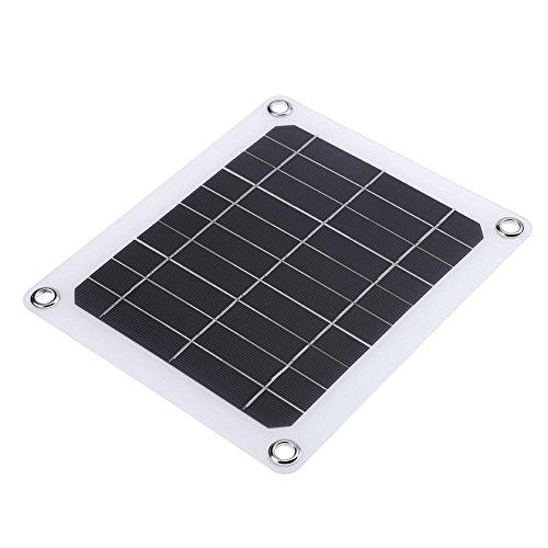 Everpert 5V 5W Power Solar Panel Solar Ladegerät Akku Power Ladegerät Board Kit für Handy (5w Solar-panel-kit)