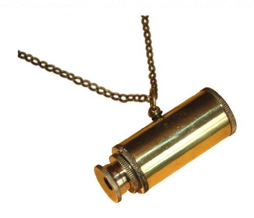 ShoreThing EU, Messing massiv, Design: Steampunk Mini Teleskop Pirate-Johnny Depp Halskette: 60.96 cm, es kann aber made to measure gold Antik, Messing