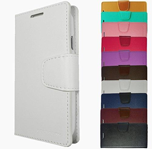 Für Samsung Galaxy Book Tasche Handy Hülle Etui Flip Cover Klapptasche Galaxy Alpha G850 Schwarz + Displayschutzfolie Weiss