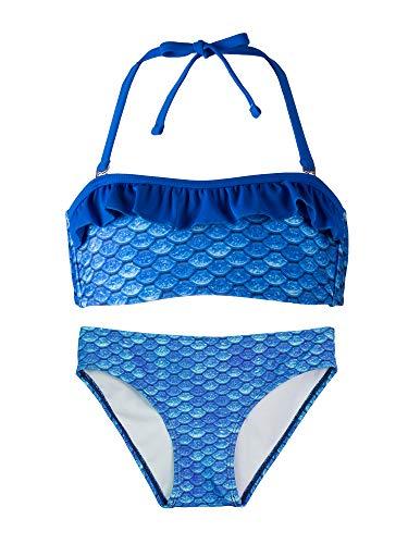 Fin Fun Bandeau Bikini Einstellen, Arctic Blue Oben, Arctic Blue Unterseite, Mädchen Groß