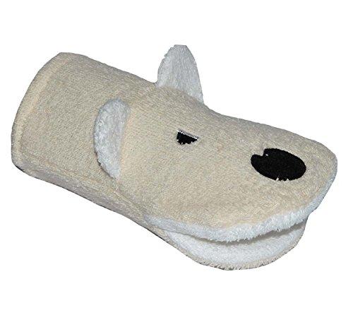 2 in 1: Waschhandschuh + Handpuppe Hund für Kinder - Handspielpuppe Handpuppen Tier Baby Haustiere Waschlappen zum Spielen und Waschen