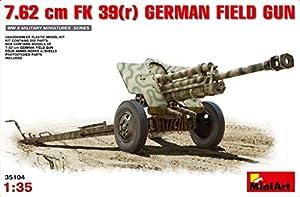 MiniArt 1: 35Escala 7,62cm f.k. 39Pistola de Campo en alemán de plástico Modelo Kit (Gris)