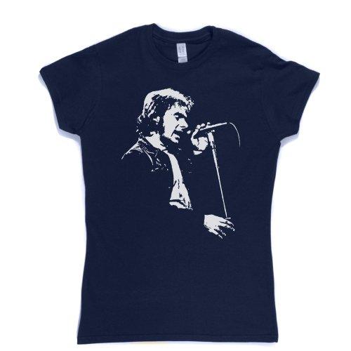 Van Morrison Womens Fitted T-shirt (navy/white medium) -
