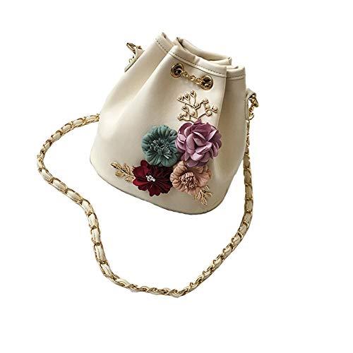Willlly Handtaschen Damen Klein Gold Kette Casual Chic Gesteppt Umhängetasche Mini Crossbody Frauen Handtasche Clutch Klassisch Abendtasche Blumen Beuteltasche (Color : Colour, Size : One Size) -