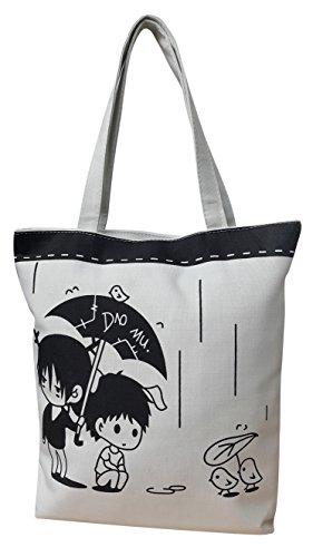 Damen Mädchen beiläufiger Segeltuch Entwerfer Druck Einkaufstasche Schultaschen Tote Schulter Handtasche Design 2
