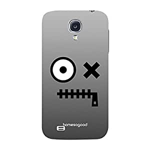 HomeSoGood Zip Your Mouth Grey 3D Mobile Case For Samsung S4 ( Back Cover)