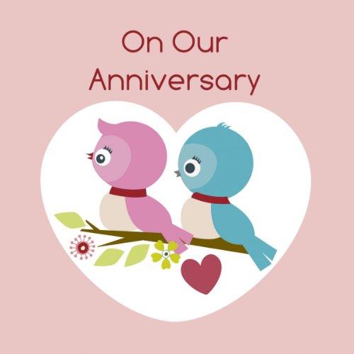 Twizler Pink Happy Anniversary di finitura con cristalli Swarovski e Love Birds-° anniversario di matrimonio