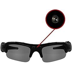 EAXUS Acción gafas de vídeo VGA gafas espía espía gafas de cámara de la acción de tarjeta micro SD / TF de grabación USB