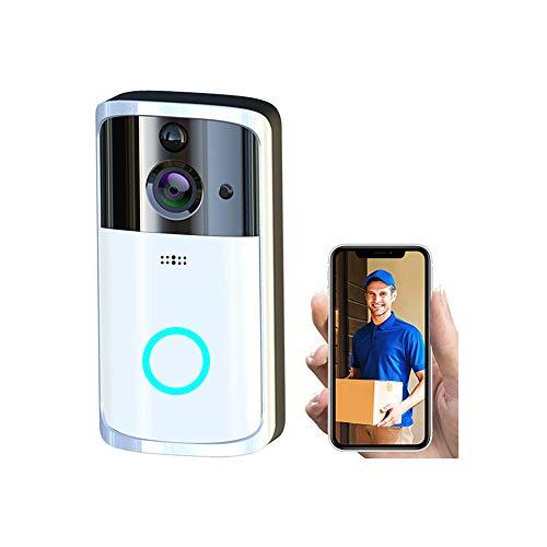 CA&jun Visuelle WiFi-Türklingel Drahtlose hochauflösende Infrarot-Nachtsicht-Heimfernüberwachung kann eine Gegensprechanlage Sein