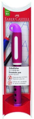 Faber-Castell 149868 - Schulfüller für Linkshänder, Feder: L, Schaftfarbe: pink