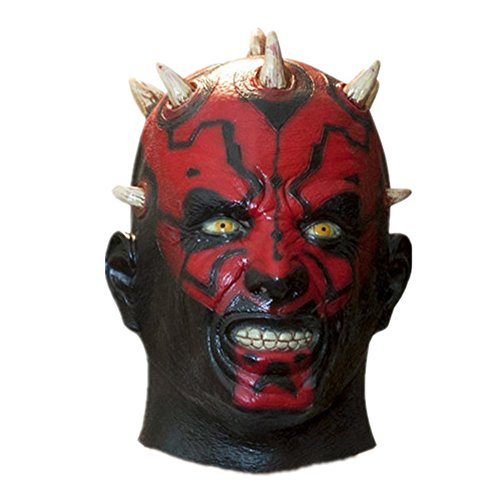 Acid Tactical Scary Creepy Halloween Teufel Latex Kostüm Maske - Darth Maul Maske