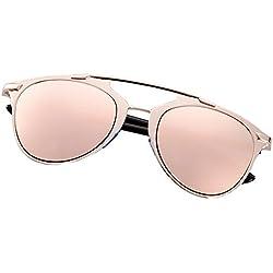 Aulei Retro Sonnenbrillen Damen Brille Katzenaugen Mode Sunglasses Dual Horizontal Beam Full Frame Brillen