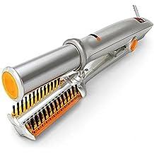 rizador de pelo cerámica termostato Seco y húmedo cepillo para el pelo Rotación de hierro Plancha para el pelo rizadores de 2-in-1