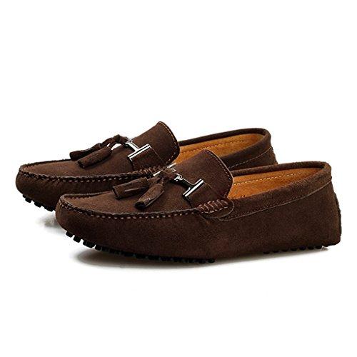 Men's Minitoo Nouvelle chass'en daim pour chaussures bateau Loafers Penny de conduite Marron - marron