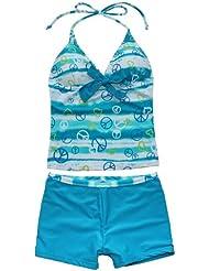 EFE 2 pièces Maillot de bain Filles Tankini Haut + Shorts Protection Enfant Swimsuit 7-16 Ans