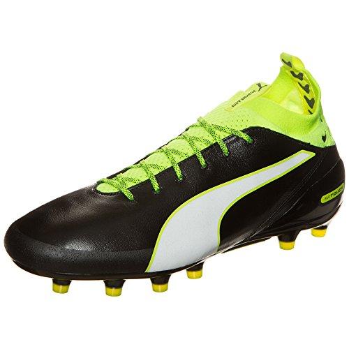 Puma Evotouch Pro Ag, Chaussures de Football Compétition Homme Noir/jaune fluo