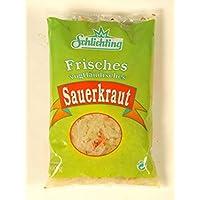 Frisches Vogtländisches Sauerkraut 3 x 500g Beutel (nicht pasteurisiert, mit Gewürzen)