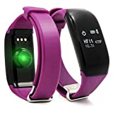 Eurowebb Montre connectée OLED 0.66' Bluetooth 4.0 IP67 Android/iOS 26 g Violette -...