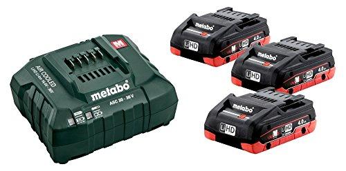 Metabo Basic-Set 685132000 3 x 4,0 Ah-LIHD + Ladegerät ASC 30-36, 18 V