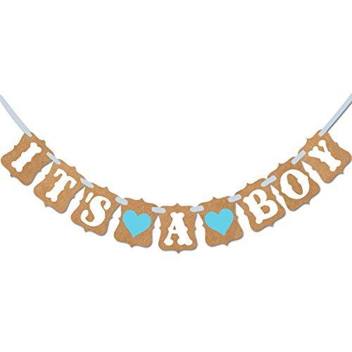 Tinksky Baby doccia banner Paper Garland Bunting Banner rustico battesimo Baby Shower ghirlanda decorazione compleanno partito